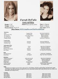 Resumes For Beginners Child Actor Resume Format Model Resume Template To Get Ideas How