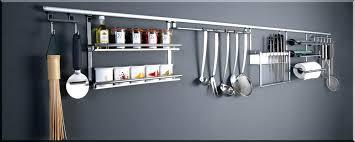 barre de rangement cuisine rangement ustensiles cuisine barre credence cuisine inox barre