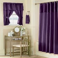 elegant purple curtain idea with vintage bathroom interior plus