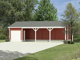 Barn Garage Designs Open Front With Enclosed Space On One End Pole Shed Designs
