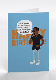 kanye birthday card and a visual showcasing design illustration and other