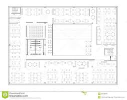 floor plan of the office building stock illustration image 82836846