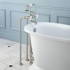 Standing Water In Bathtub Freestanding Telephone Tub Faucet Supplies And Drain Porcelain