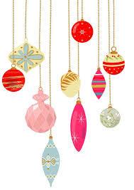 10 vintage ornament clip pastel color retro