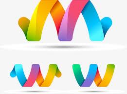 paper ribbons 3 rainbow colored paper ribbon vector material rainbow origami