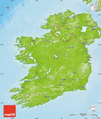 Physical Maps Physical Map Of Ireland