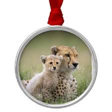 baby cheetah ornaments keepsake ornaments zazzle