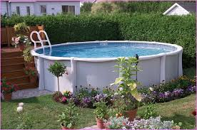 above ground pool landscaping plants decorating above ground