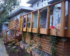 modern deck lattice backyard pinterest modern deck decking