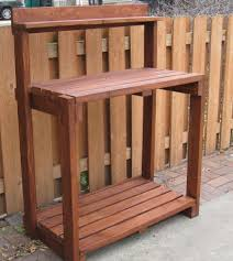 work with wood project here wood potting potting bench plans cedar