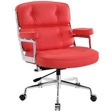Sleek Modern Furniture by Remington Low Back Office Chair Red Modern Office Chairs