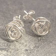 silver stud earrings nest stud sterling silver earrings by otis jaxon silver jewellery