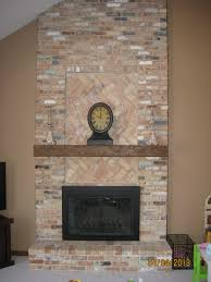 floor to ceiling brick fireplace makeover excellent best stone