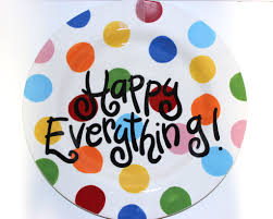 coton colors happy everything plate coton colors bright dot happy everything big platter jeannie s