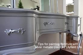 lilyfield life tips on using metallic paint and a silver painted