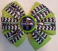 seahawk ribbon seattle seahawks inspired pro football hair bow seahawks ribbon