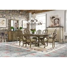 5 piece dining set classic touraine pecan with upholstered