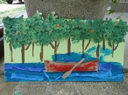 the playful garden canoe on the river jigsaw trees tp roll canoe