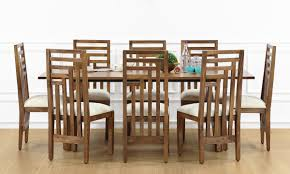 8 Seat Dining Room Table by Buy Larne 8 Seater Dining Table Veneer Top Online In India