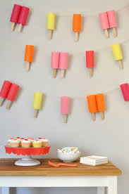 Ice Cream Decorations How Cute Is This Jumbo Popsicle Garland Brit Co Party