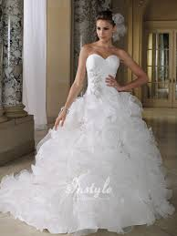 wedding dresses with bling sweetheart neckline with color on the