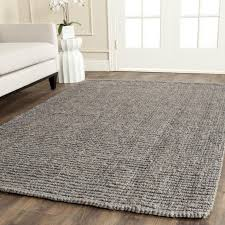 interiors awesome natural fiber charcoal area rug by safavieh