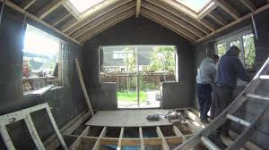 how to turn an old conservatory into a shiny new extension youtube