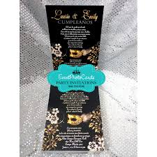 aqua quinceanera masquerade invitations sweet 16