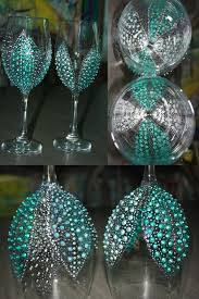 best 25 painted wine glasses ideas on colored