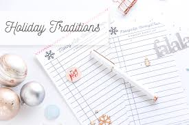 traditions a free list printable