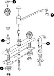 moen kitchen faucets repair moen single handle kitchen faucet diagram diagram wiring diagrams