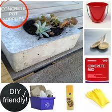 Concrete Rectangular Planter by Diy Concrete Planters Hometalk