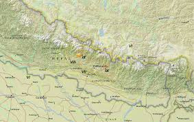 Maps Nepal by File Gorkha Isoseismal Map Usgs Annotated Png Wikimedia Commons