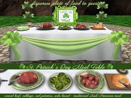 second life marketplace st patrick u0027s day meal buffet