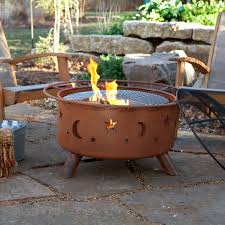 Cowboy Grill And Fire Pit by Bear And Tree Fire Pit With Grill And Free Cover Hayneedle