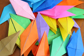 paper cranes for japan hapamama