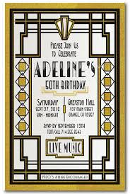 great gatsby roaring 20 u0027s art deco 50th birthday invitations di