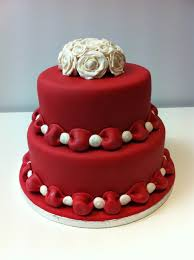 40th anniversary color ruby anniversary cakes the color of this fondant cake