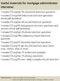 Administrative Resume Template Top 8 Mortgage Administrator Resume Samples