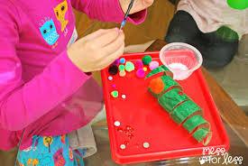christmas crafts for kids cardboard tube christmas tree mess