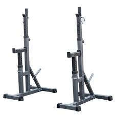 2pcs bench press stands peg rack adjustable independent weight