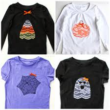 Halloween Tee Shirts by More Lace Halloween Shirts Cutesy Crafts