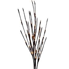 lighted branches battery operated warm white led lighted branches 39 brown branches