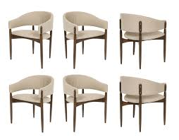 set of six enroth dining chairs contemporary mid century