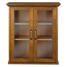 Hanging Cabinet Doors by Elegant Home Martha Mahogany Bathroom Wall Cabinet With 2 Doors