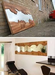 wohnideen diy diy moebel kreative wohnideen spiegel mit rahmen aus holz gut