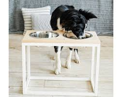 shabby chic dog ring holder images Raised cat feeder etsy jpg