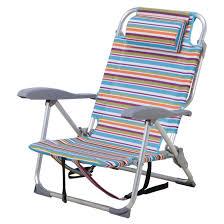 chaise pliante de plage chaise de plage ajustable à rayures rona