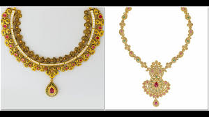 traditional kerala gold necklace designs 2017 models