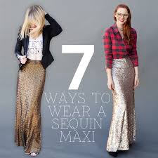 sequin skirt 7 ways to wear a sequin maxi skirt babble
